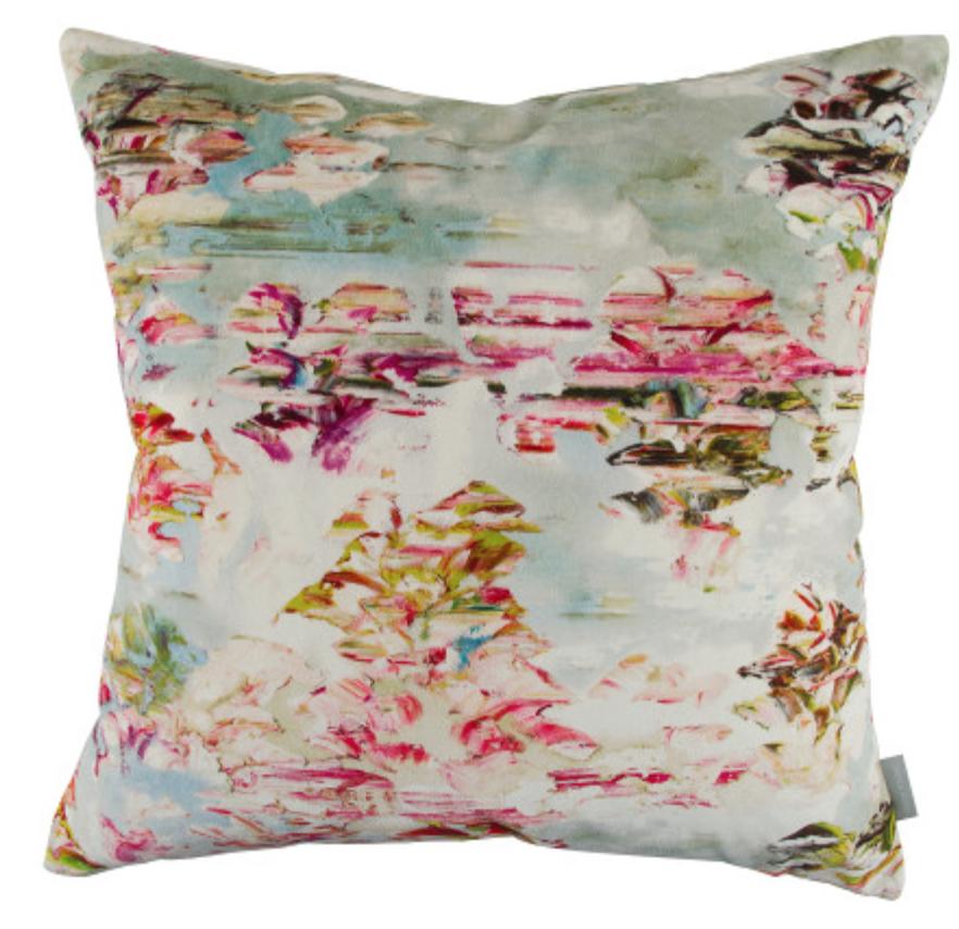 """"""" Pleasure Gardens Velvet Cushion """""""