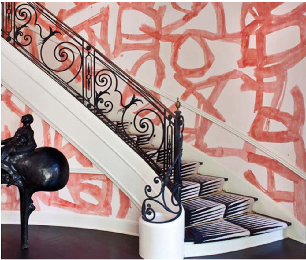 Kelly Wearstler's much-loved hand painted walls. {Via Pinterest}