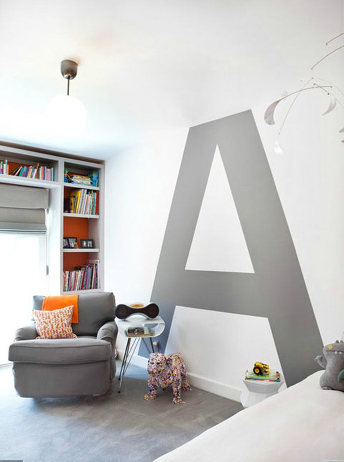 For those of you into monograms and the like... a Typography statement wall.  {Via Arch Daily Digest}