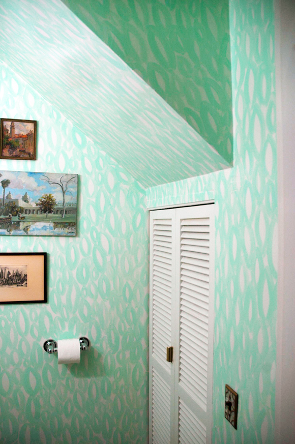 Little Green Notebook  shared this DIY wall on her blog.  It's really lovely.