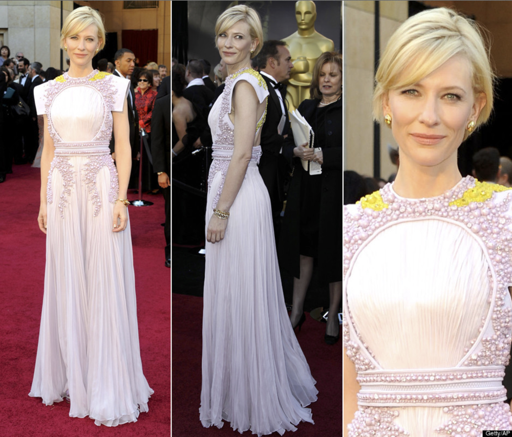 Cate Blanchett rocks this beautiful color combo at the 2011 Oscars.