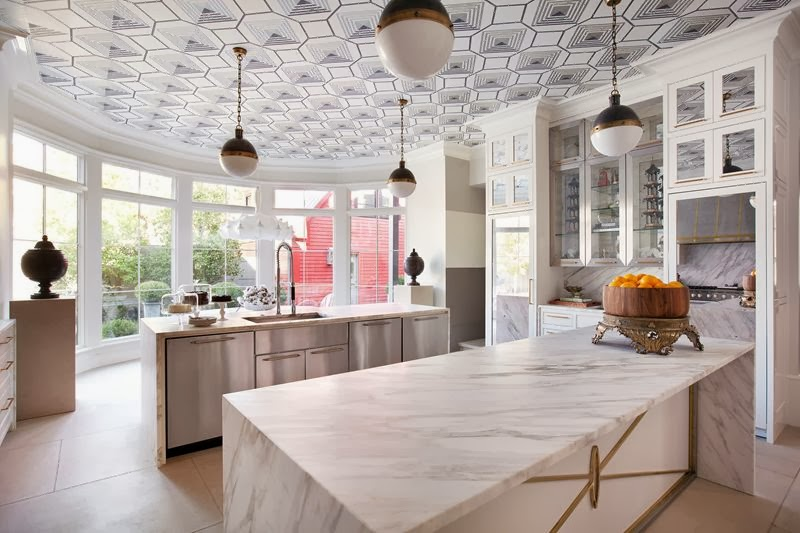 Every surface seems to have a special detail, including the ceiling.  {Via  Southern Distinctions }