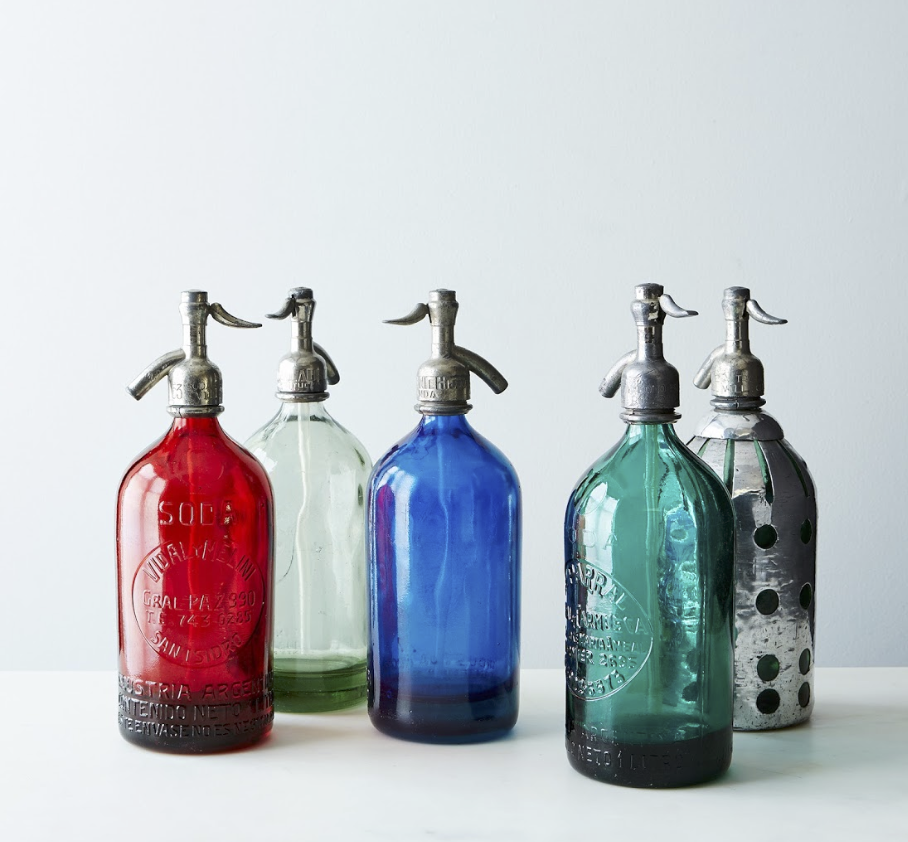 Vintage seltzer bottles {Via  Food 52 }