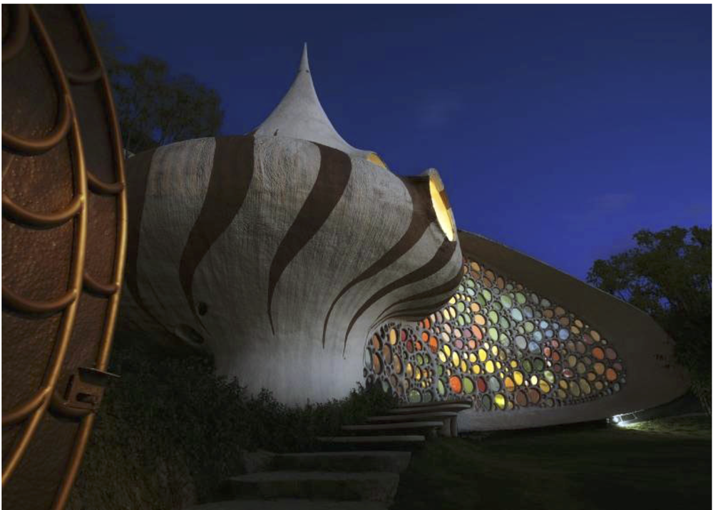 The Nautilus House designed by architect Javier Senosiain {Via  Atlas Obscura }