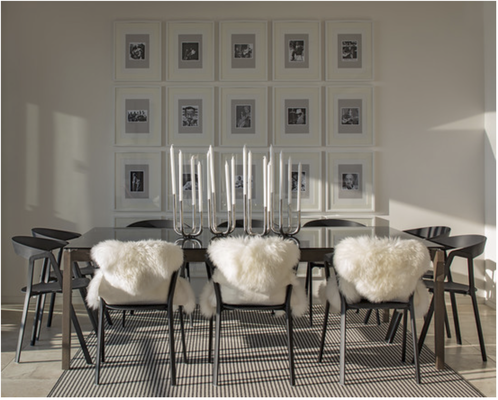 Soft sheepskins add an element of cozy.  {Via  Houzz }
