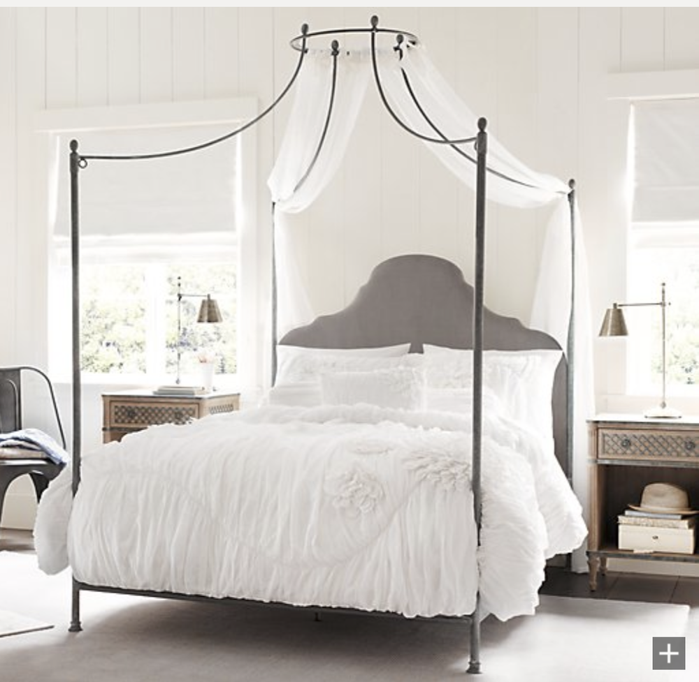 This one is so cute and probably a much better price point than the Niermann Weeks bed above. {Via  RH Baby and Child }
