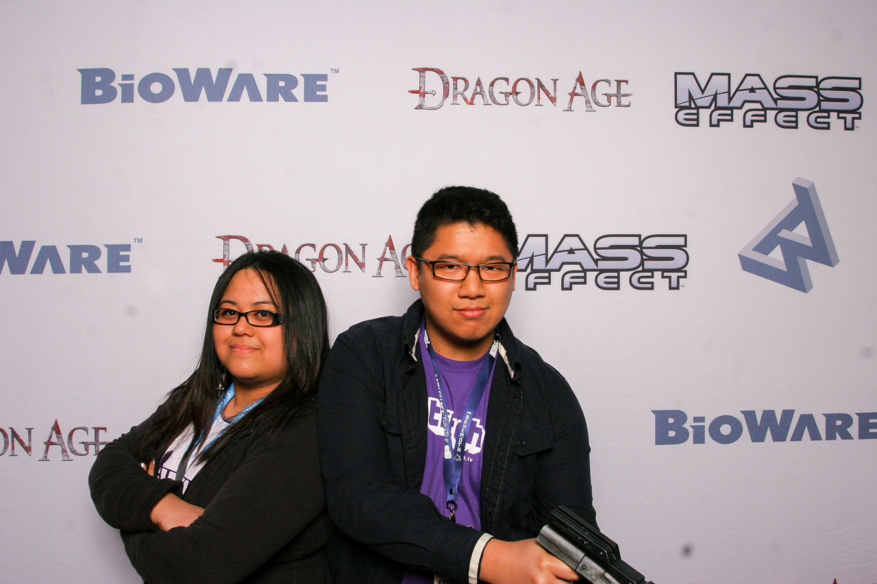 Bunch of nerds at the Bioware base.   Heh.
