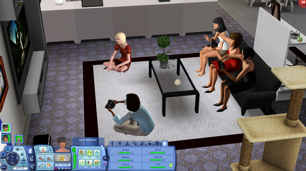 A bachelorette party where a bunch of women are having fun playing video games. No one is disgraced. No one is applauded. In Sims 3, things like this are just normal. Sometimes, I just really wish video games were real.