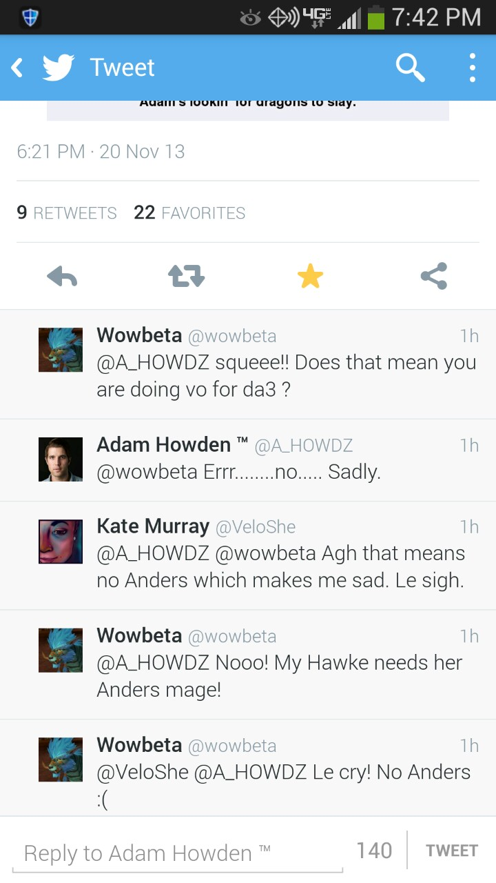 Not sure if he's saying no because he's NDA'd or if his Anders isn't coming back :(