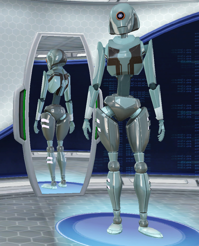 Was trying to make EDI in the new Plumbot maker for Sims 3…but TIL it's really, really hard to make one that doesn't look…botty.