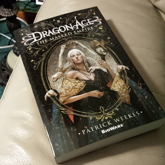 Reading like there's no tomorrow. #DragonAge