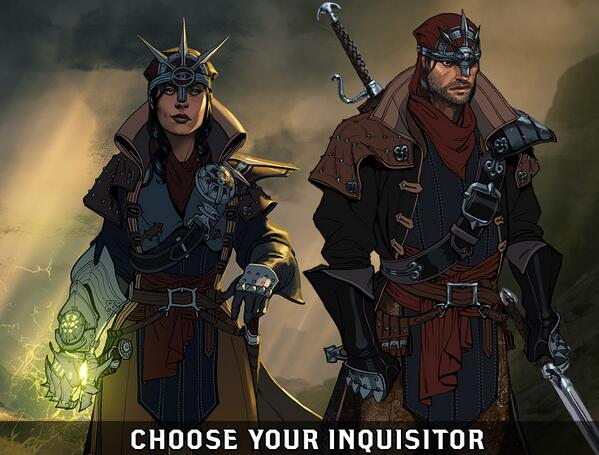Creating your Inquisitor begins with the first choice. Tell us if you'll pick Female or Male. #DAI (via @DragonAge)  What will you choose? FEMALE QUNARI!