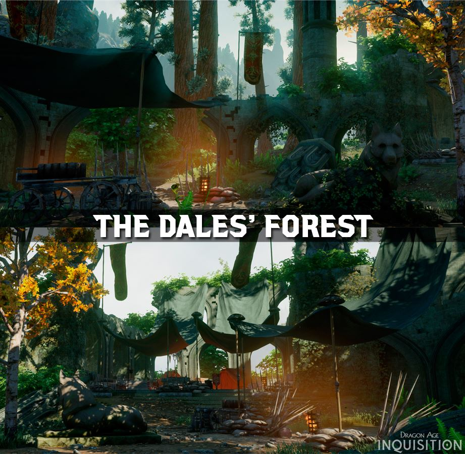 "cudathedas :      ""The Dalish elves call it the ""Emerald Graves"" for the trees that now represent lives sacrificed in battle."""