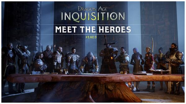 The fate of Thedas rests with the Inquisition. Are you ready to meet them at E3?  http://bit.ly/U7ttKb   #EAE3  pic.twitter.com/J3AKANptRz    -@ DragonAge  Twiter