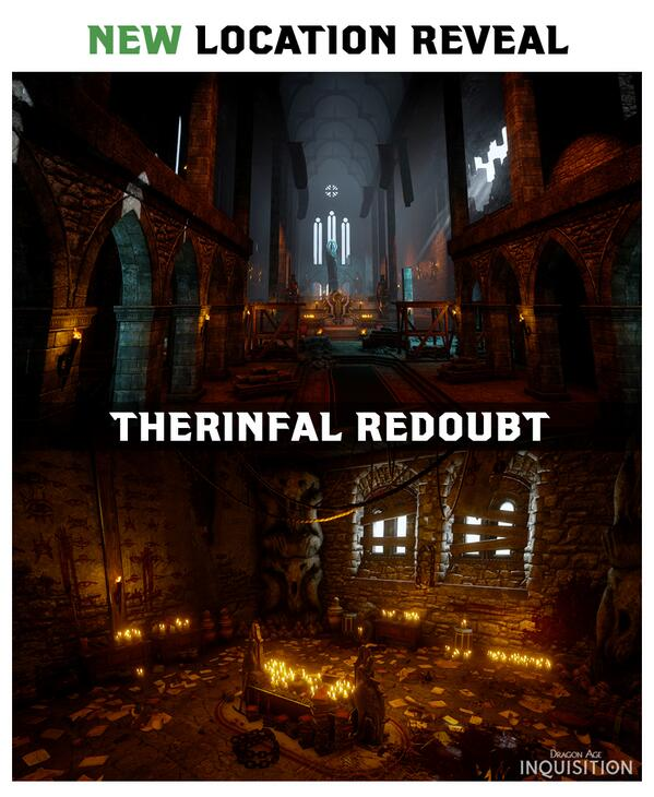 New Location: Therinfal Redoubt A bit of a fixer-upper now, but once served the Seekers as a premiere training ground. #DAI pic.twitter.com/lwDkaZ7B0t - @dragonage