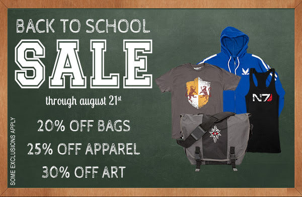 BioWare is having a Back-to-School sale until August 21! See it here: biowarestore.com