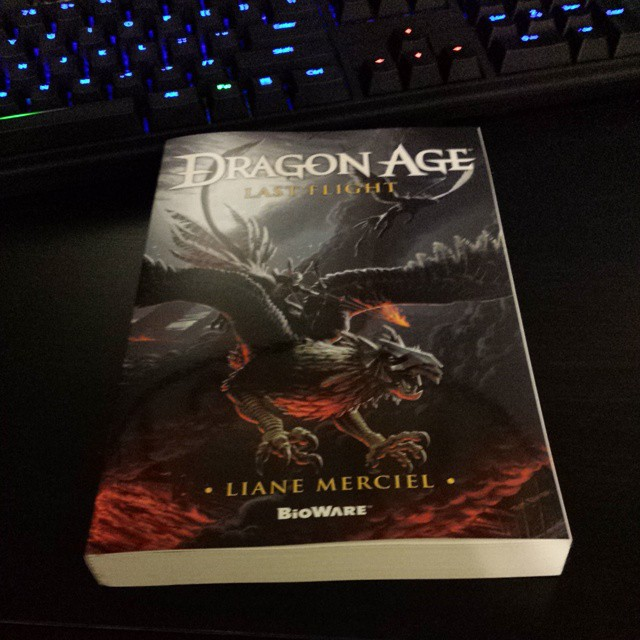 Yay! Finally home and get to read Last Flight :D #DragonAge