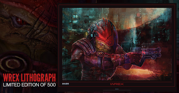 Lithographs of Wrex now available on the Bioware store: [Click Here]