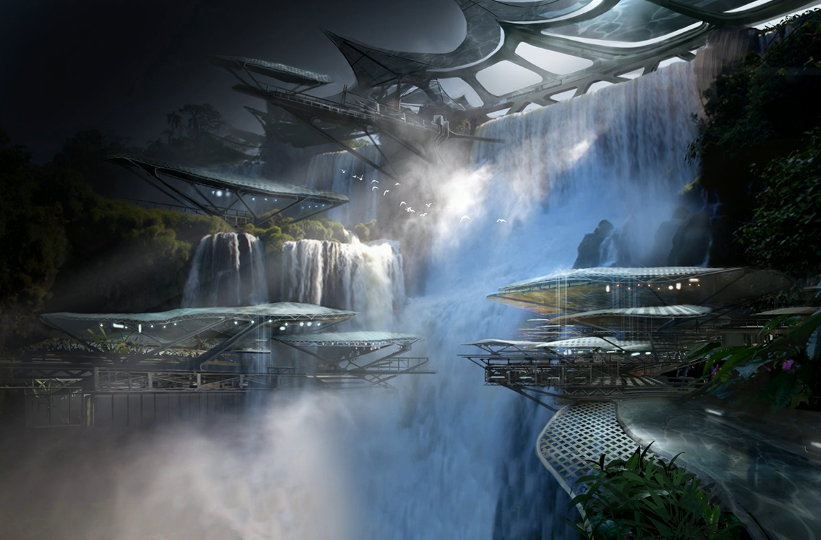"""Here's the home of…some of our new races."" - Concept art from the next Mass Effect. Source: twitch.tv/bioware"