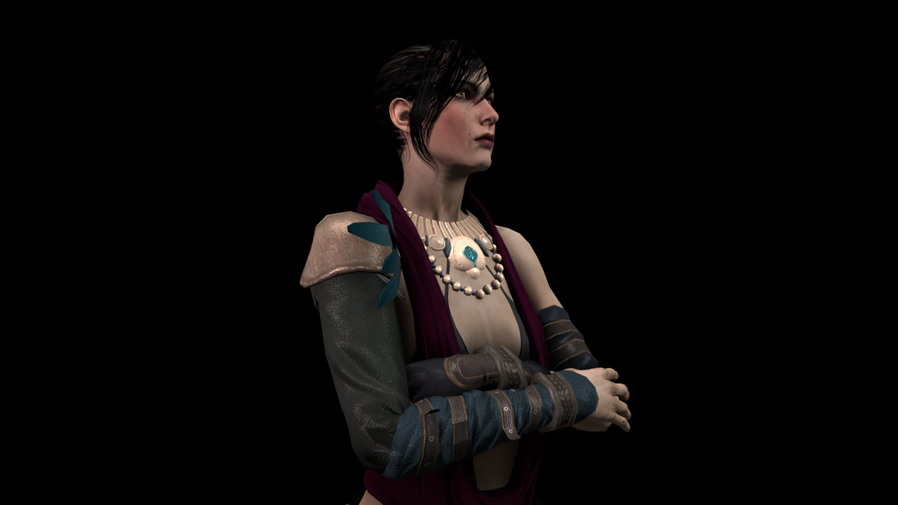 mrdudesworkshop: Morrigan: Dragon Age: Inquisition Flavor W.I.P. Coming soon. Also, I learned how to fix those ugly light seam things like on Her arm there.