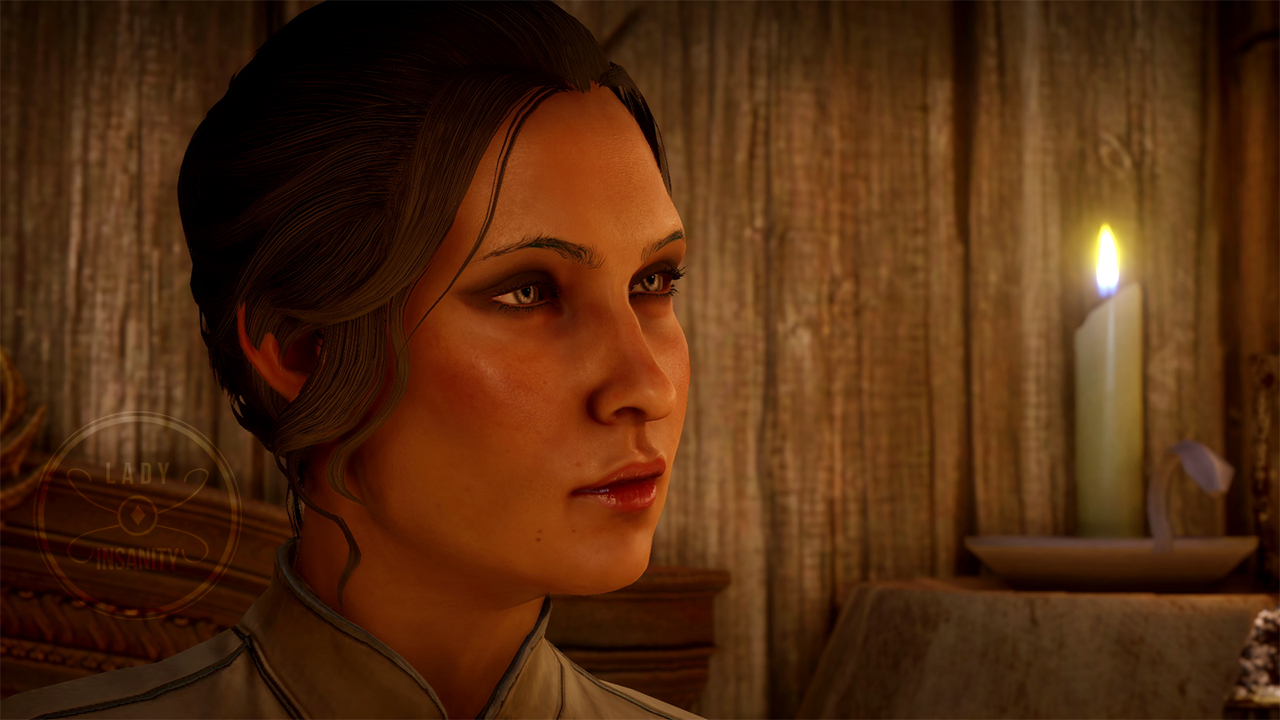 "Happy Dragon Age: Inquisition EA Access Day :) My (personal canon) human rogue Inquisitor - Cyndarra ""Cyn"" Trevelyan."