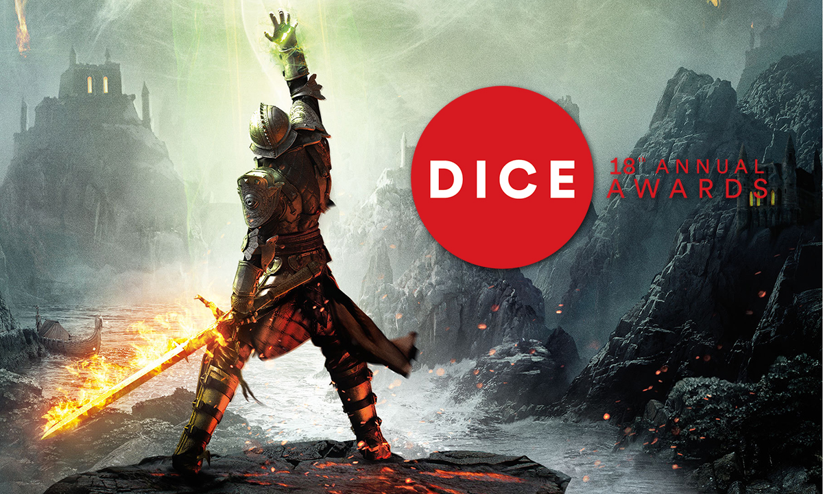 "Congratulations to Bioware on Dragon Age: Inquisition winning DICE's ""Game of the Year"" award!   As seen on [ Twitch ]."