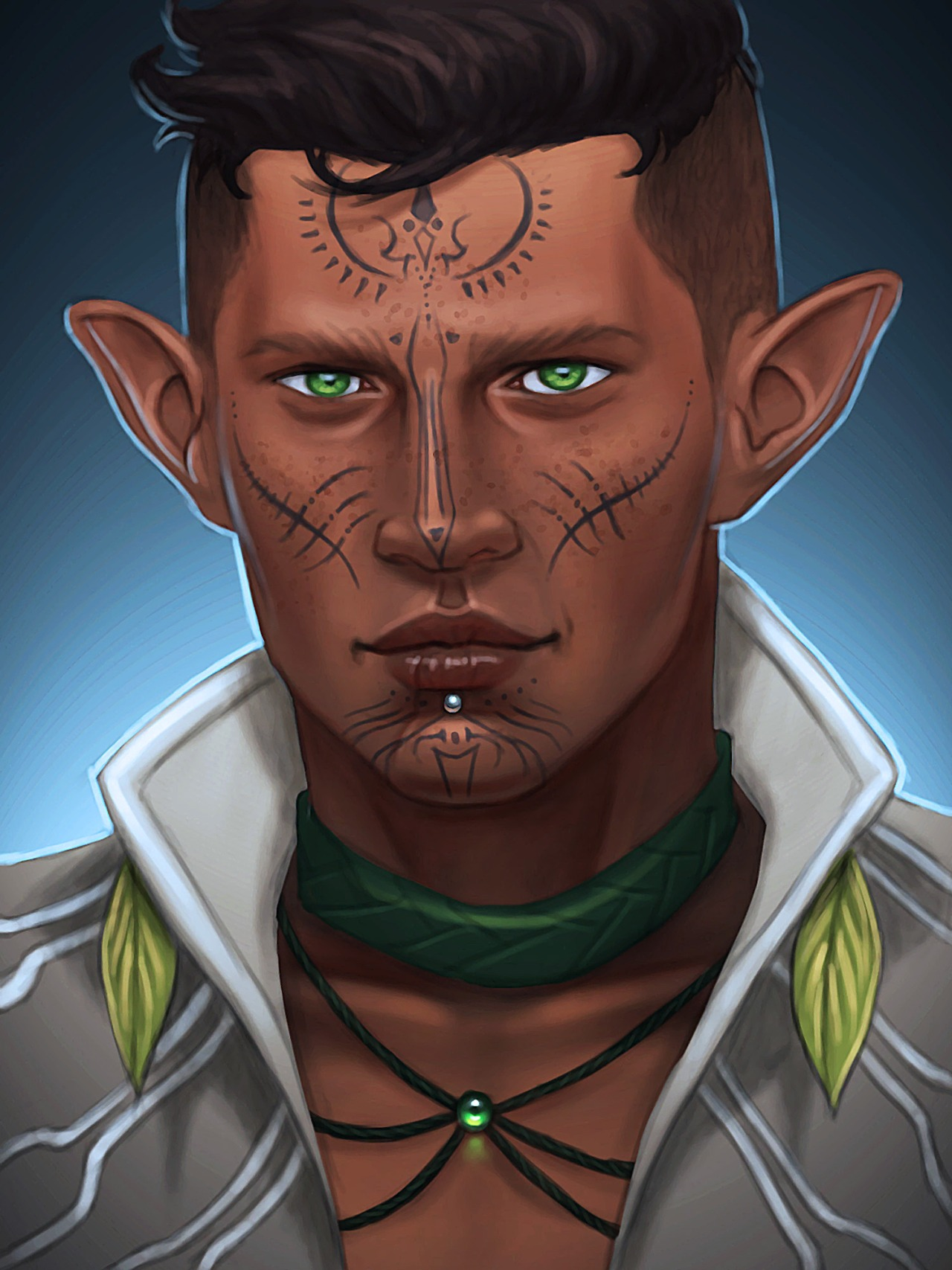 merwild :     Mahanon Lavellan for  ir-albelas-lavellan    Thank you for commissioning me! :D