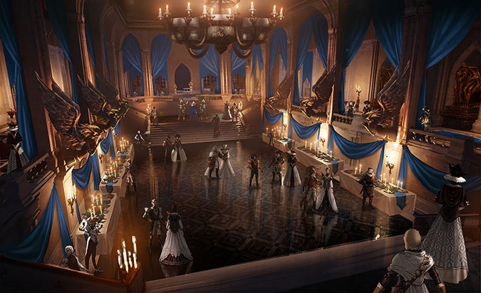 "COSTUME PARTY CONFIRMED. Get your dresses ready and your dancing shoes. THE GAME IS ABOUT TO START. ""We are about to attend a costume party,"" adds senior environment artist Ryan Love. ""Get your mask on and your dancing shoes ready, but don't let your guard down. There's more to this party than meets the eye."" See more at DragonAge.com!"