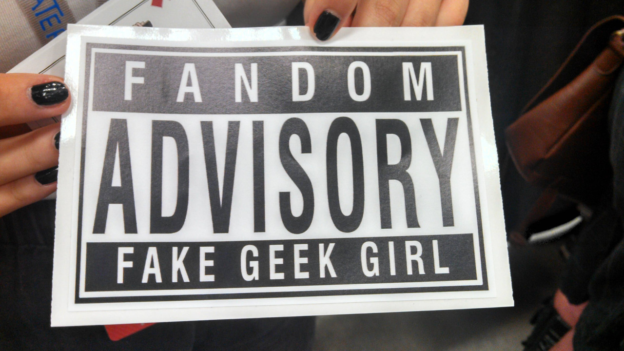 "Originally found via r/girlgamers, there's a guy handing out this sticker to females at RTX. And by handing out, I mean  giving females he sees this sticker slapping it on cosplayers' costumes according to a commentator on Dr. Nerdlove's Facebook, slapping the sticker on girls' asses If you are at RTX or know someone there who has seen this sticker guy, please report him to RTX staff immediately. They're currently on the look out for him. (See EDIT 2 below!) As far as my opinion on this: people can love whatever the hell they want. It's not an all-boys club - it's 2013. Girls…guys…anyone can enjoy whatever fandom they please. The original of this post was deemed as a joke, but for this guy to willingly call out females in this method, (or, to be honest, any form like this) is profane and disgusting. To the person handing out these stickers as a hateful gesture: I normally would say ""Drown yourself in a river"". However, that wouldn't educate you or any like-minded people like you that this is wrong. It doesn't matter if you never read this. For me, I long for a day when it's just fine to like whatever you like, pursue whatever you like to pursue. I'm happy to pursue my gaming life in the way that I do and I pity any person who thinks they have any authority to tell me what I can or can not do with my own existence. Edit: To clarify, the person giving the stickers at RTX out is NOT Dr. NerdLove, the original maker of the logo. Further, Dr NerdLove does not condone the use of his logo being used to embarrass/harass females at the convention. Edit 2: The guy has already been caught by RTX Guardians. According to @ZoeQuinnzel,  @DrNerdLove @cantfakethefunk yeah, someone just informed me that he got his ass thrown out in about an hour after"