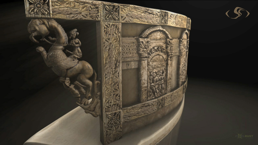 "Begram Throne - ""Hidden Treasures of Afghanistan"" - Nat Geo Museum Exhibit"