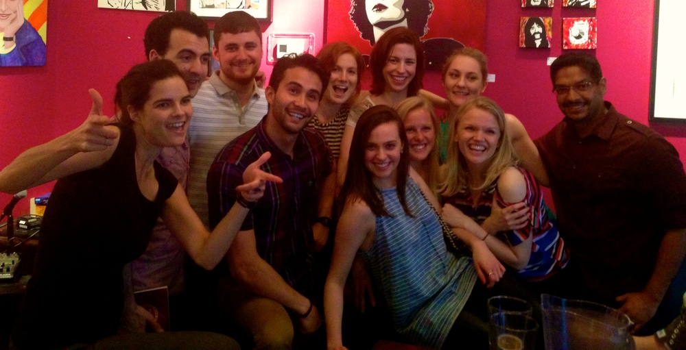 A few of my fellow Improv 101 classmates after our class show at UCBEast!