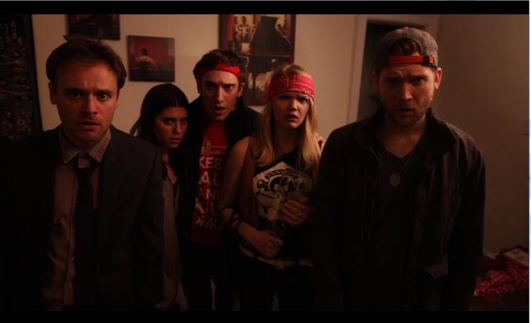 Photo still from Episode 3 (L to R: Chris Stahl, Emily Fortunato, Mark Maciejewski, Lani Harms, and Tim Hackney)