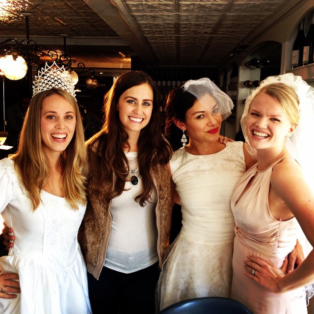 Behind the scenes with my beautiful costars on My Crazy Love (L-R) Danielle Heaton, Kate Costello, and Maria DeSimone!
