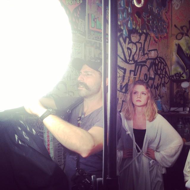On set filming Artaud's Descendants