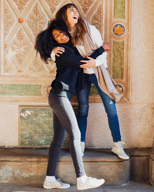 Hugging up on @bekkagunther for @jordache 📷: @spencerostrander