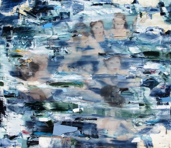 Water Logic, 2012 | Oil and Acrylic on Canvas | 60 x 68 Inches
