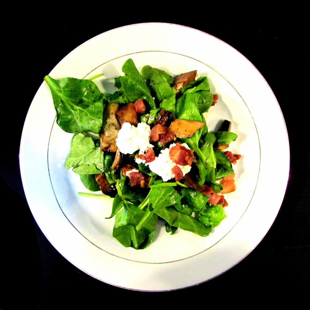 warm spinach salad.