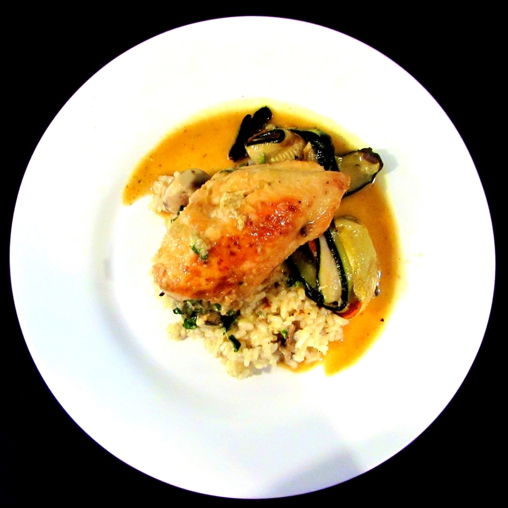 stuffed noosa chicken.