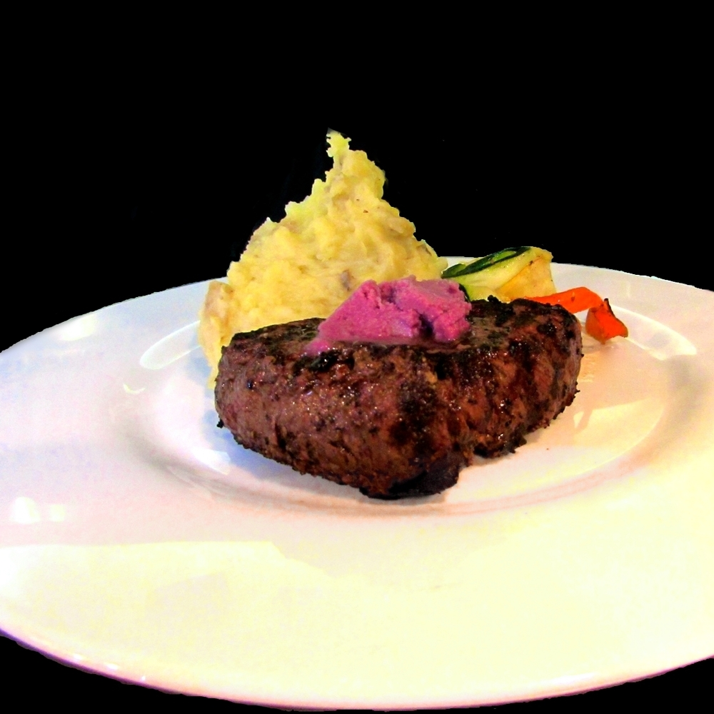 noosa filet with cabernet butter.