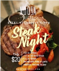 JOIN US EVERY WEDS 4P-9P FOR OUR FAMOUS STEAK NIGHT!