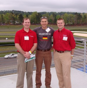 Matt Fitzgerald, Arndt Siepmann, and Arnar Thors at the AlabamaGermany Partnership Barber Track Experience on Friday, March 30, 2012