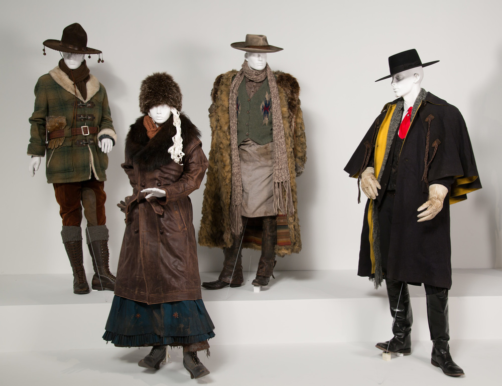 "The Hateful Eight costumes by Costume Designer, Courtney Hoffman. These costumes can be seen in the 24th Annual ""Art of Motion Picture Costume Design"" exhibition, FIDM Museum, Fashion Institute of Design & Merchandising, Los Angeles. The exhibition is free to the public, Tuesday, February 9 through Saturday, April 30, 2016, 10:00 a.m. - 5:00 p.m. .(Photo: Alex J. Berliner/ABImages)"