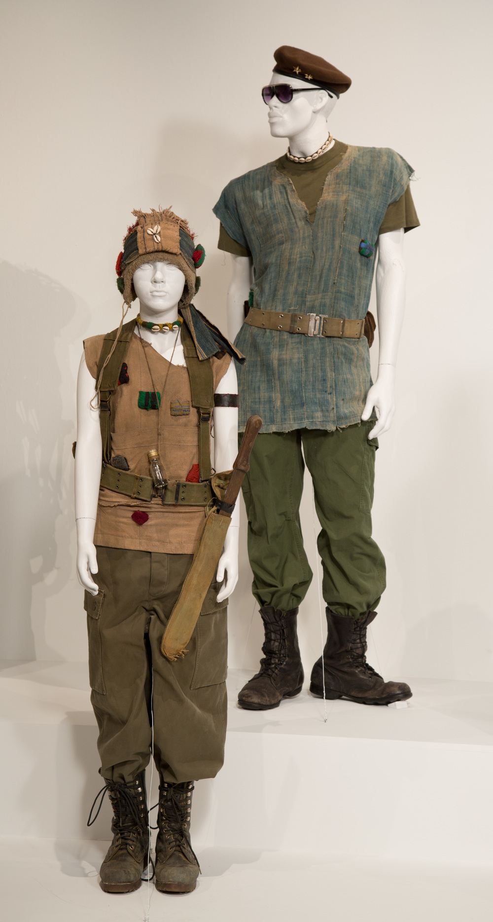 """Beasts Of No Nation"" costumes by Costume Designer, Jenny Eagan. These costumes can be seen in the 24th Annual ""Art of Motion Picture Costume Design"" exhibition, FIDM Museum, Fashion Institute of Design & Merchandising, Los Angeles. The exhibition is free to the public, Tuesday, February 9 through Saturday, April 30, 2016, 10:00 a.m. - 5:00 p.m. .(Photo: Alex J. Berliner/ABImages)"