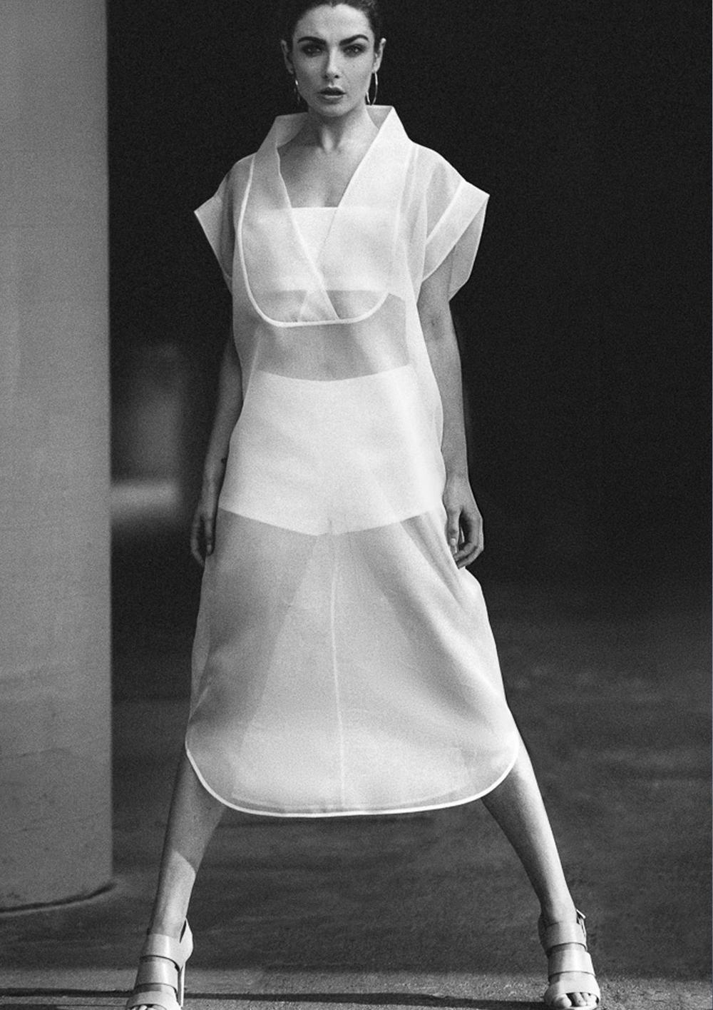 sheer silk organza shirt longline
