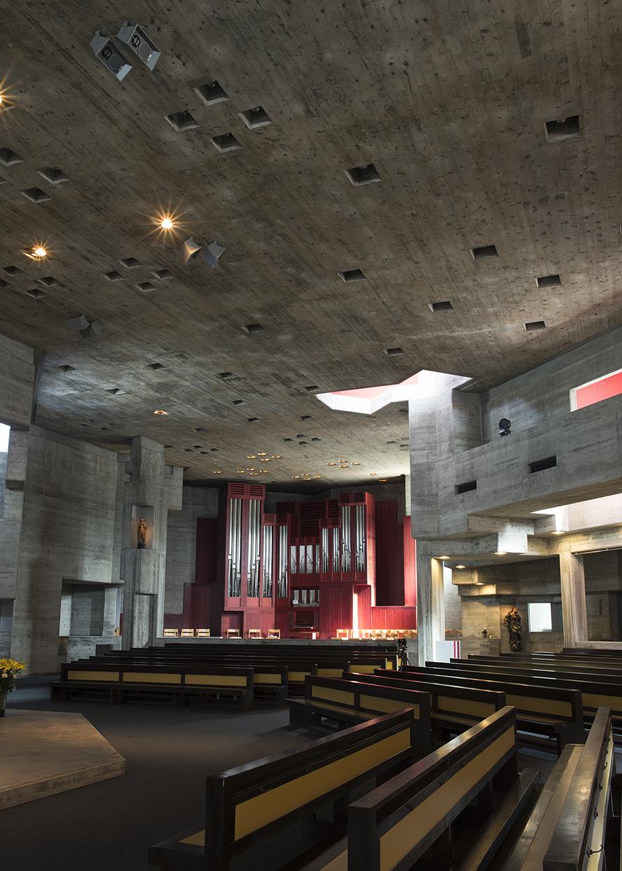 6.9.16, Kirche Pfarrei St. Johannes, Walter Förderer, Photo by Aissa Tripodi