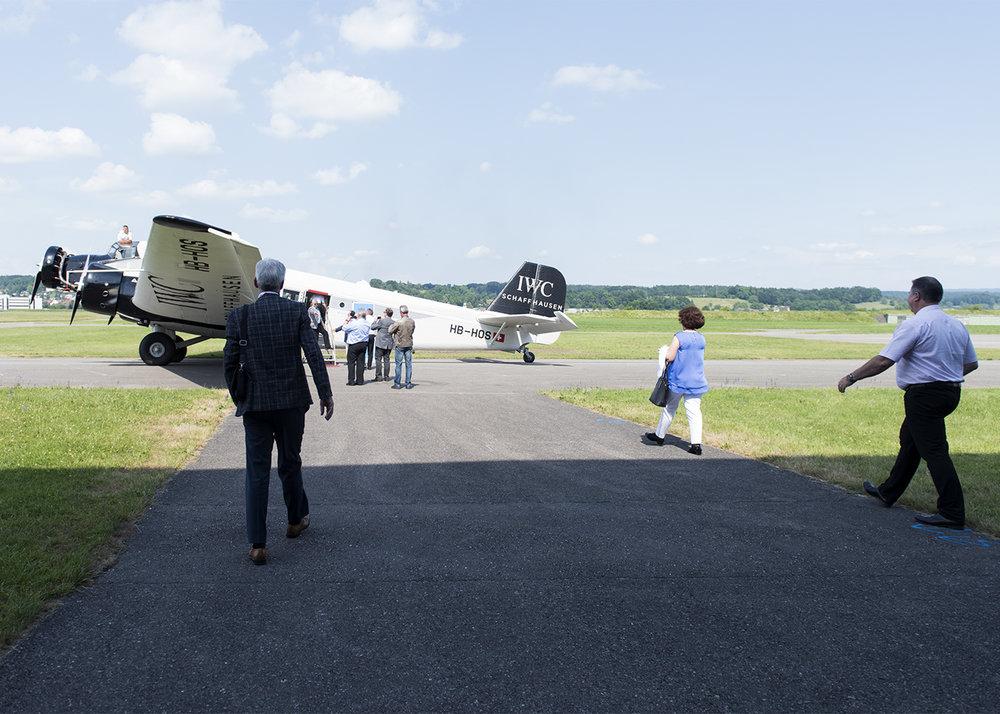 Einstieg in die JU-52  Abflug ab Dübendorf