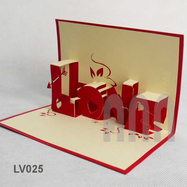 Lv025 love text 2 ann handicraft love text 2 3d pop up greeting card altavistaventures Choice Image