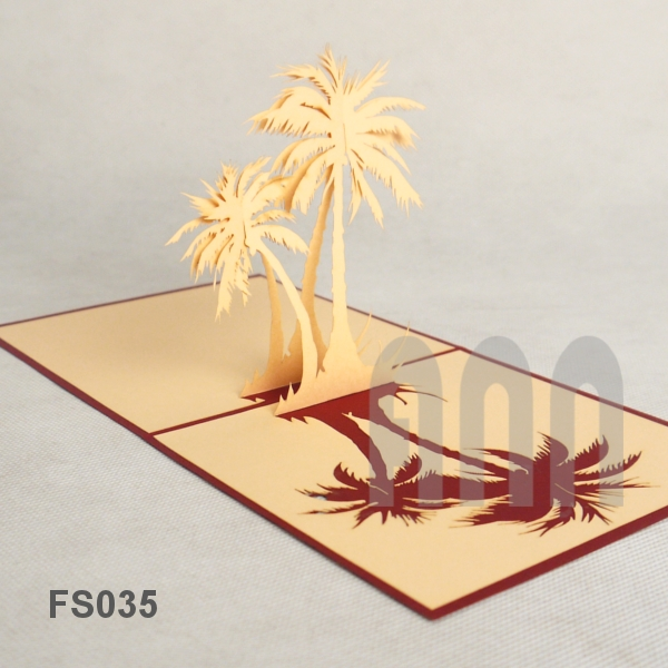 Palm Tree Pop Up Card