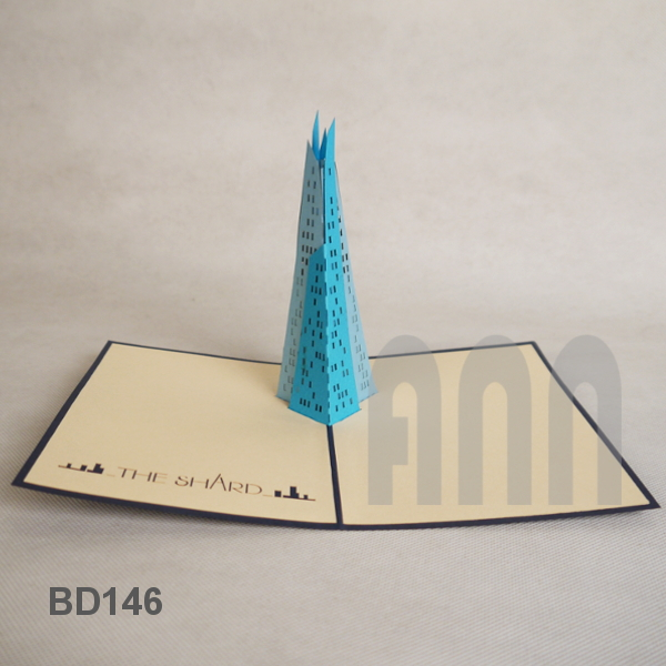 Shard Building 3d Pop Up Greeting Card 1