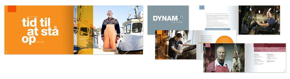 Dynamo  Design af visuelt udtryk for Dynamo, en præsentation af et oplæg til en erhvervs reality-serie - AdPeople